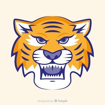 Roaring tiger background