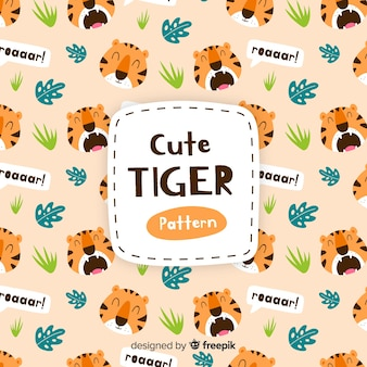 Modello di tigre ruggente