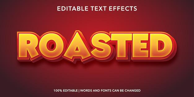 Roasted editable text effect