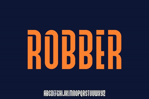 Robber, bold and modern urban condensed font