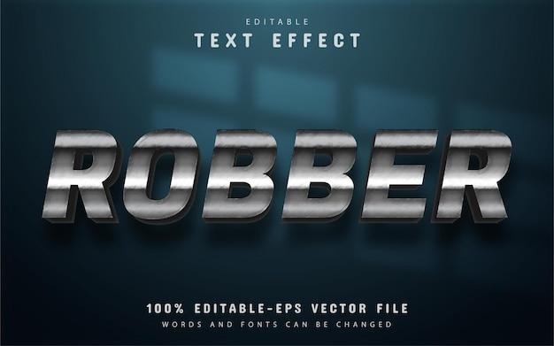 Редактируемый текстовый эффект грабителя