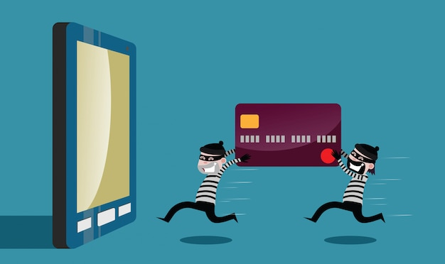Robbers ran the credit card theft