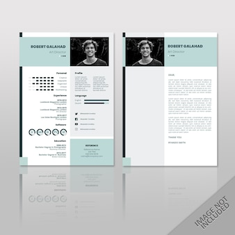 Robert Blue A4 Resume 2 Pages