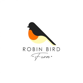 Robin bird logo template. animal logo vector. pet bird logo template