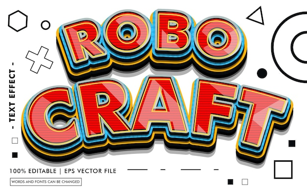 Robo craft text effect style