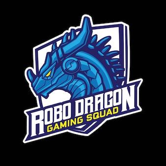 Robo dragon gaming logo design
