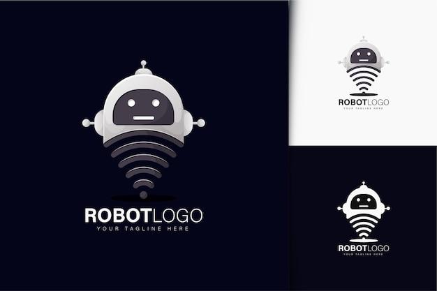 로봇과 와이파이 로고 디자인