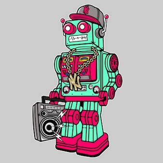 Robot boombox