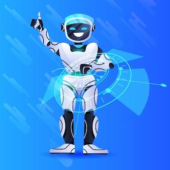 Робот чат-бот помощник современный роботизированный персонаж