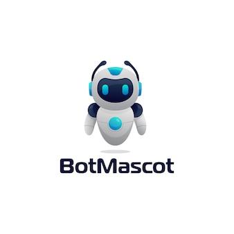 Значок чат-бота робота подписывает реалистичный стиль дизайна иллюстрации