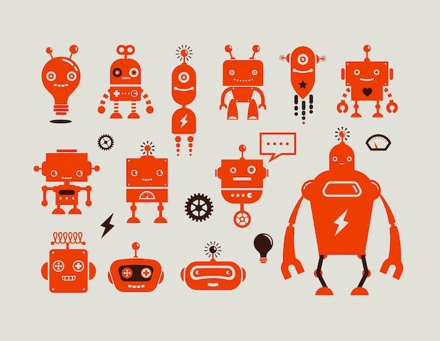 Робот милые значки и персонажи