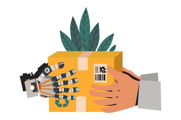 Robot delivery illustration