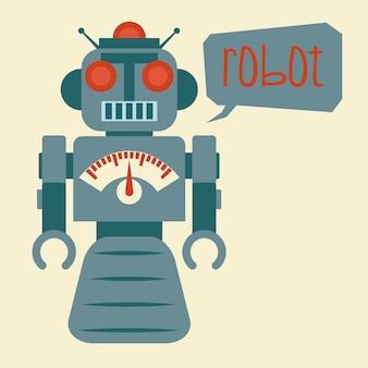 Robot design over beige background vector illustration