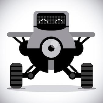 Robot design over gray background vector illustration