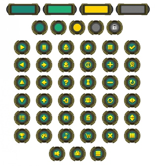 Robot game button pack