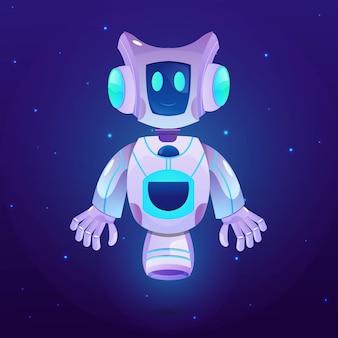 Robot guardians space illustration vector premium
