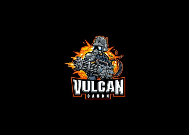 Robot holder vulcan cannon esport logo