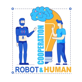Robot and human productive symbiotic cooperation
