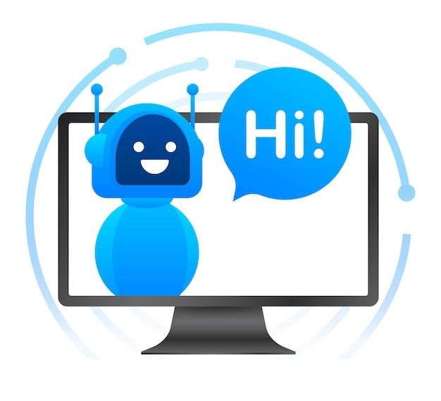Robot icon. bot sign design. chatbot symbol concept. voice support service bot. online support bot. vector illustration.