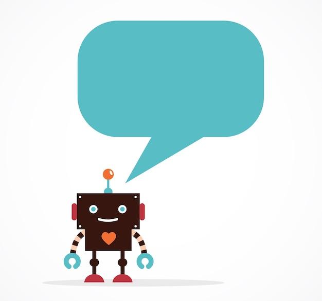 Значки роботов и милые персонажи Premium векторы