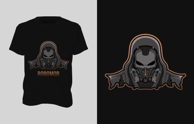 ロボットイラストtシャツデザイン
