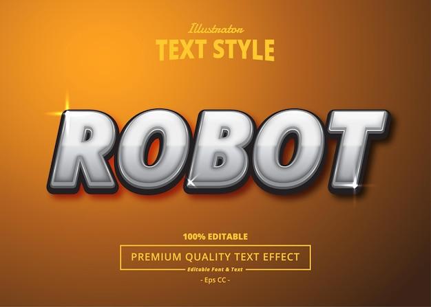 Robot illustrator text effect