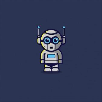 Robot mascot cartoon character design template