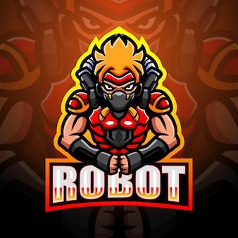 Робот талисман киберспорт иллюстрация