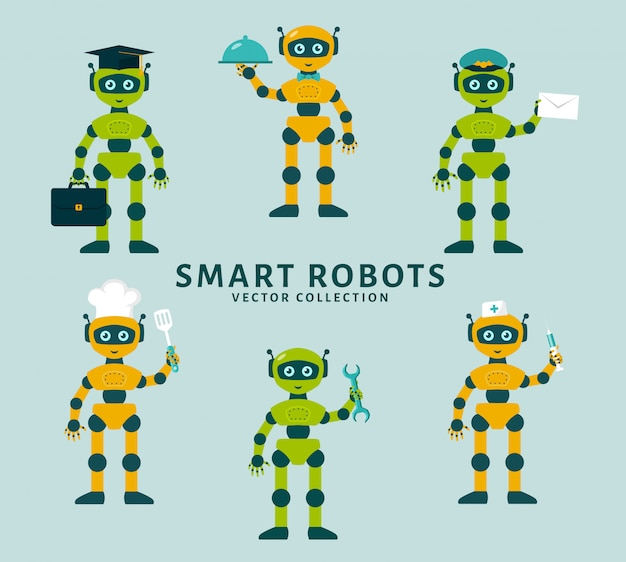 Robot's occupations. vector collection.