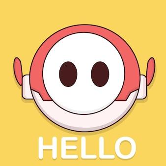 Robot say hello
