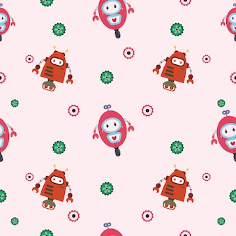 Robot seamless pattern