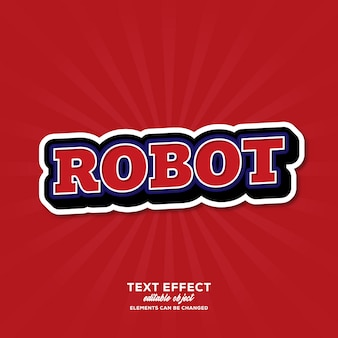 Robot simple text effect with modern style