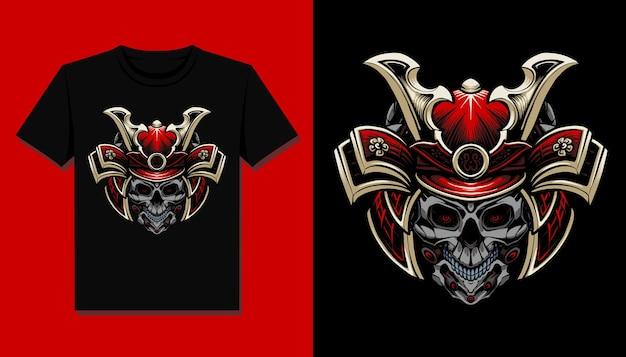 Robot skull head t shirt design