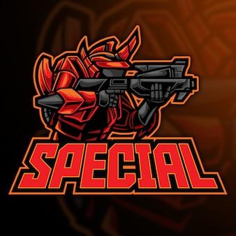 Robot special esport logo template