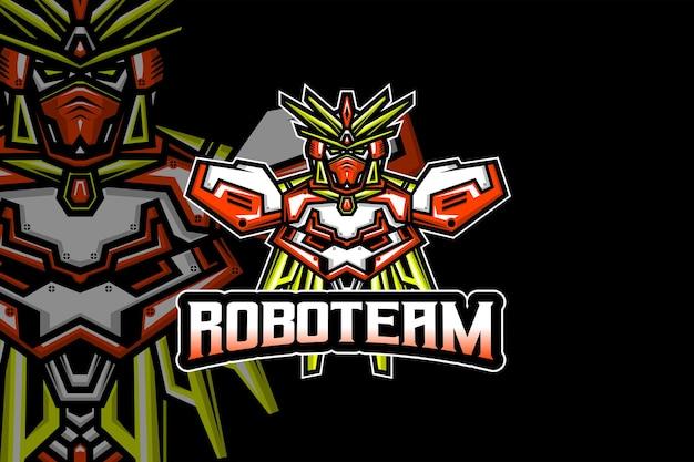 로봇 팀 - e스포츠 로고 템플릿