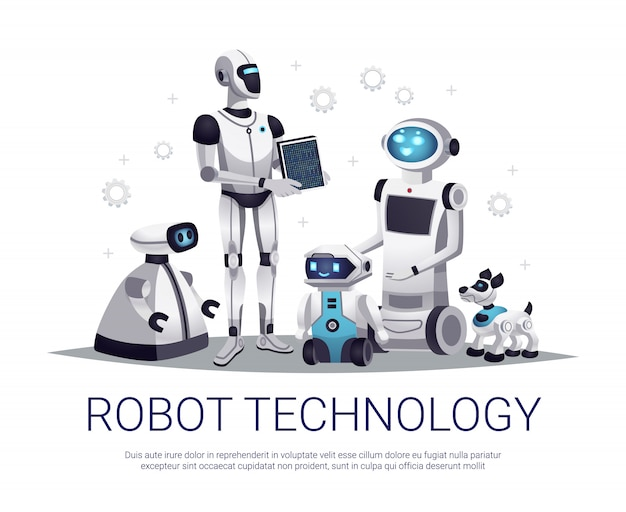 Robot technology illustration