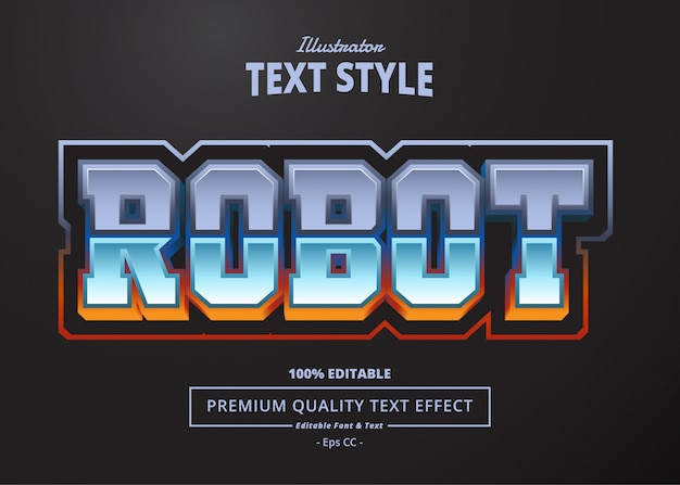 Robot text effect Premium Vector