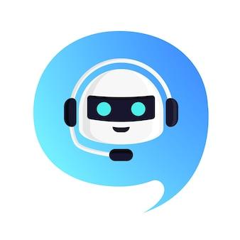 Робот вектор seeech bubble в современном стиле чат-бот концепция иллюстрации для виртуального помощника баннера