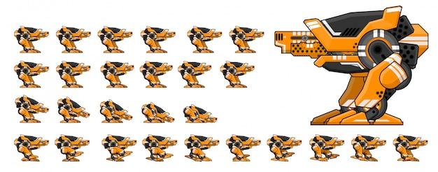 로봇 워커 게임 스프라이트