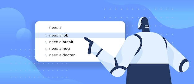 Робот пишет, нужна работа в строке поиска на виртуальном экране
