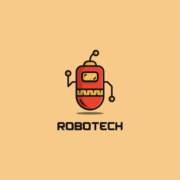 Robotech logo template design.   illustration. abstract robot web icons and   logo.