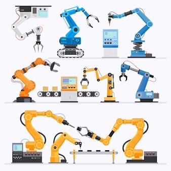 ロボットアーム産業。イラスト