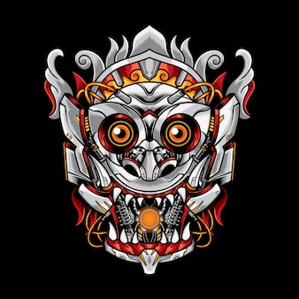 Robotic barong mask illustration