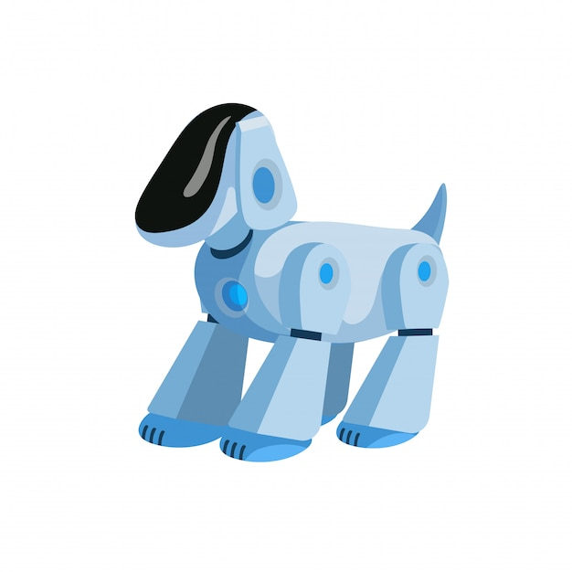 Robotic dog flat