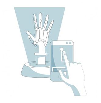 로봇 손 개념