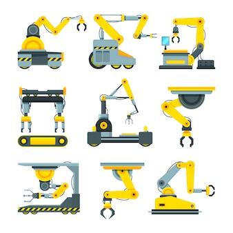 Robotic hands for machine industry.