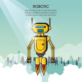로봇 infographic 만화