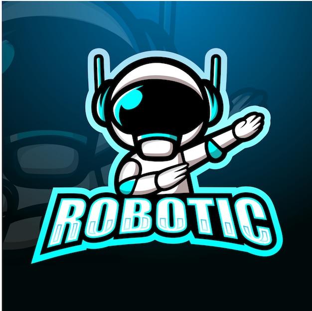 Robotic mascot esport illustration