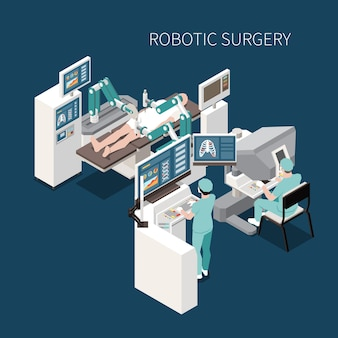 Robotic surgery isometric composition with innovative operation