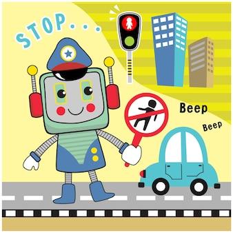 로봇 경찰관 재미있는 만화